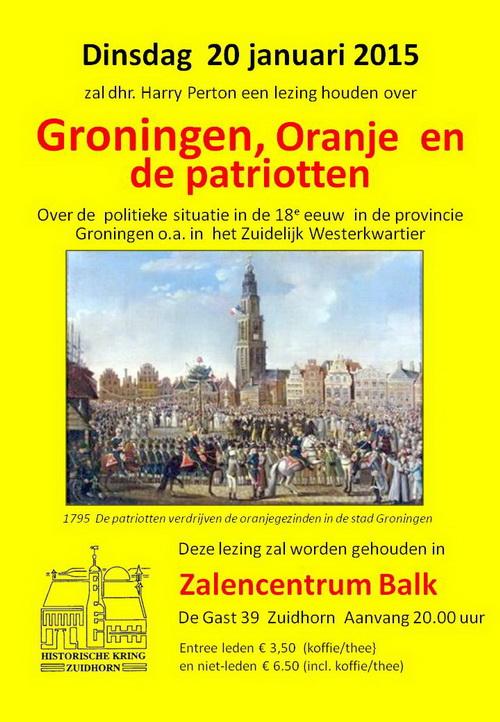 Groningen Oranje en de patrotten v
